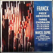 Marcel Dupre - Franck Piece Heroique & Three Chorales LP VG MG 50168 Mono