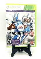 EA Sports Madden NFL 13 Microsoft Xbox 360 Complete Game, Case, Manual/Inserts