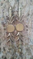 Laurel Brass Furniture Applique OrnamentPediment  round disc 5.5 inches set of 2
