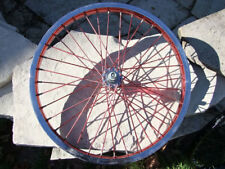 "20 x 1.75"" CMC Front Wheel, Single Wall, BMX Bicycle, Red Anodized Rims & Spokes"