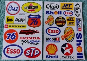 Two Sheets Of Stickers Motorsport Rally Racing Logos  (Pair C)