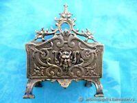 Porte-serviettes ancien Diable Porte-serviettes bronze 19ème siècle Fra Antique