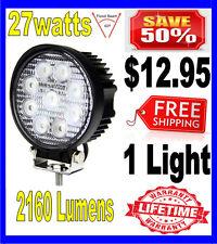 27W 27watt 12V 24V 2160Lumen Offroad SUV LED Round Work Light Truck Boat Lamp
