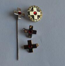 Deutsches Rotes Kreuz 4 Stk. Anstecknadel Abzeichen Brosche Silber 925
