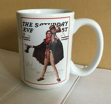 The Saturday Evening Post Norman Rockwell Glass Coffee Cup/Mug ~ TinyTim