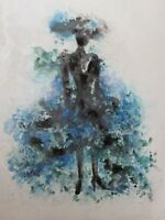 abstract black woman lady large oil painting canvas original contemporary art
