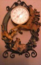 Vintage horse & foles wall clock.