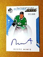 2018-19 Roope Hintz SP Authentic Future Watch Rookie Auto /999 RC Autograph #207