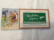 Vintage Berkshire Express rail line advertising card with Lawson Wood monkeys