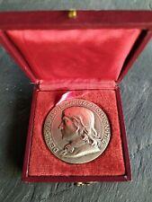 Médaille Bronze Argenté Denis Papin Industries 1839 ancien