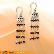 Granate-Ohrschmuck mit Durchzieher echten Edelsteinen für Damen