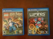 PlayStation PS Vita LOT 2 games LUMINES + LEGO HARRY POTTER free shipping