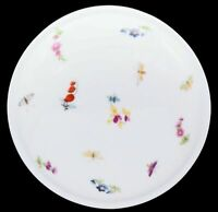 Chamart Limoges France Butterfly & Flowers White Porcelain Jewelry Trinket Box