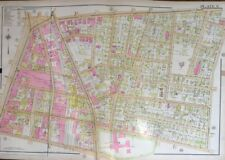 ORIG 1911 WORCESTER, MA CENTRAL BUSINESS DISTRICT, COUNTY JAIL PLAT ATLAS MAP