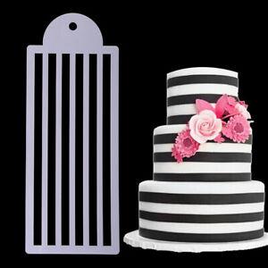 Stripe Cake Lace Stencil Cake Wedding Decoration Plastic Fondant Template Mol SX