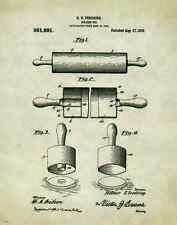 Kitchen Bakery Patent Patent Poster Art Print Pie Cake Pans Chef Supplies PAT175