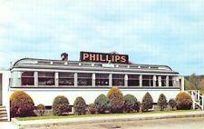 Woodbury CT Philips Diner Postcard