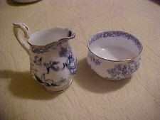 Royal Albert, CREAMER AND SUGAR WITH BIRDS AND FLOWERS DESIGN, ORIENTAL