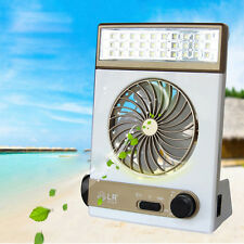 Portable Rechargeable LED Solar Fan Light All-In-One Camping Tent Fans Lamp