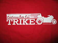 CALIFORNIA SIDE CAR T SHIRT Trike Motorcycle Conversion & Trailers Company LARGE