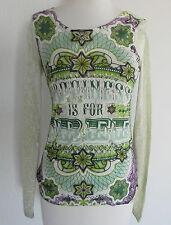 Custo Top Long sleeve multicolor slim cut size S 100% cotton
