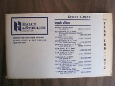 Standard & Poor's (S&P) Stock Guide for Halle & Stieglitz, Year End 1972