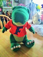 "PLUSH FLORIDA Crocodile alligator w/orange suit ""F"" stuffed animal  Clean NICE"