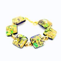 Murano Glass Bracelet Beautiful Green Gold Bracelet from Venice