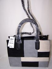 Giani Bernini Suede Patchwork Color Block Satchel Handbag New with Tag $249.50
