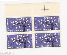 SPECIMEN Europa Cept 1962 Chypre Cyprus Zypern Yvert n° 207 Michel n° 215 bloc 4