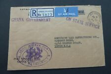 GHANA  1964  Registered Airmail cover STORES BRANCH, M. C. Takoradi