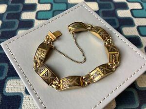 Vintage Goldtone Damascene Bracelet