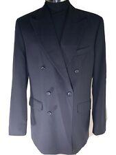 "Burton Menswear Jacket Navy Pinstripe Double Breast Size 40"" Chest Pure New Wool"