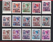 1941 CROAZIA/CROATIA/HRVATSKA, n° 25A/25P  MNH/**
