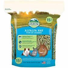 Oxbow Animal Health Alfalfa Hay For Rabbits Guinea Pigs and Small Pets 15 Ounce