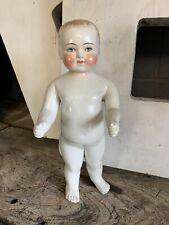 """Antique Porcelain 19th Century Frozen Charlie Doll Statue (frozen Charlotte) 15"""""""