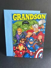 Marvel Spider-Man Grandson Birthday Greeting Card w/Envelope Hallmark New