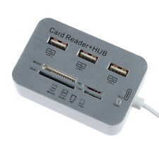 3Port USB Hub Micro SD TF Card Reader Camera Combo Adapter for iPad 4 Mini 5