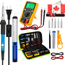 Soldering Iron Kit with Digital Multimeter 60W 110V Soldering Kit with Switch...