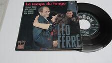LEO  FERRE   RARE  EP 45 T  SIXTIES  Le JAZZ BAND    LE TEMPS DU TANGO