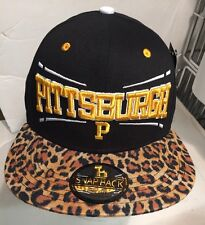 Pittsburgh SnapBack Black Yellow Leopard Baseball Hat