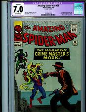 Amazing Spider-man #26 CGC 7.0 RESTORED 1965 Marvel Comic 1st Crime Master K26