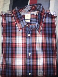 EUC Mens Gap Red White And Blue Checkered Shirt XXXL