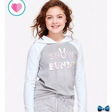 Justice Girls Size 18/20 Snow bunny Pajama Top New With Tags
