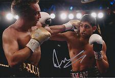Amir KHAN Signed 12x8 Autograph Photo AFTAL COA World Champion Boxer WBA IBF