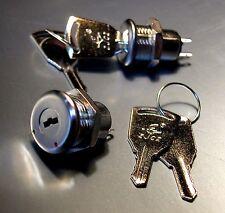 1x Mini Miniatur Schlüsselschalter 2 Schlüssel ein / aus 30V /1A Metall Schalter