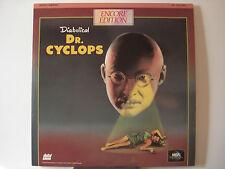 Dr. Cyclops 1940 Horror Laser Disc - Albert Dekker - Janice Logan near-Mint LDs