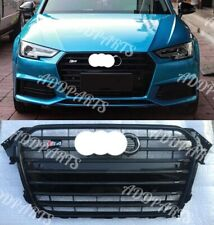 For Audi A4 S4 B8.5 RS4 Honeycomb Mesh Front Black Grill Grille 2014 2015 2016