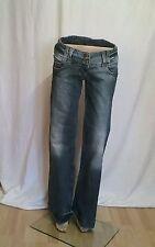 L34 Stonewashede Damen-Jeans im Weites Bein-Stil