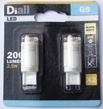 Diall G9 2.5W 200 Lumen LED Light Bulb - Pack of 2